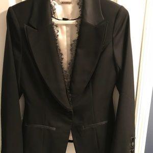 Black tuxedo style jacket blazer